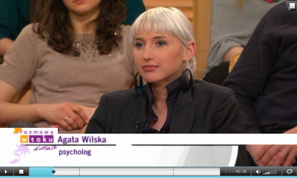 "Agata Wilska - video from TVN program ""Rozmowy w toku"""